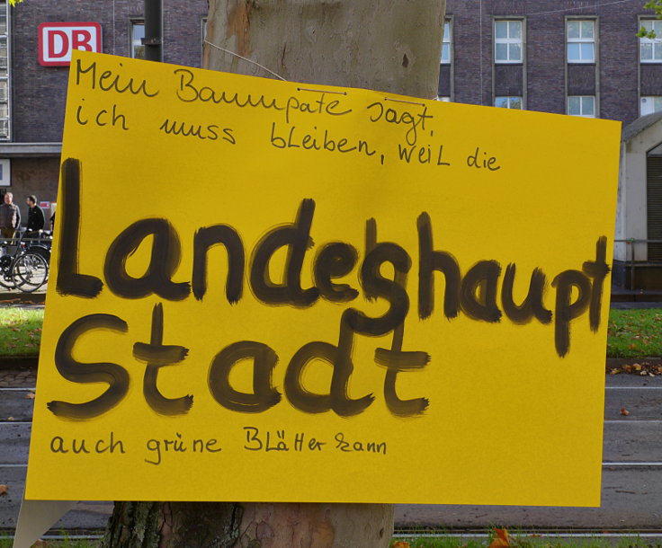 © www.mutbuergerdokus.de: Baumschutzgruppe Düsseldorf: 'Demo für das Stadtklima'